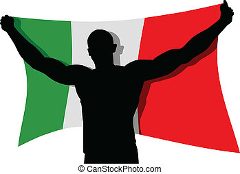 Pride Of A Nation - Vector illustration of a man figure...