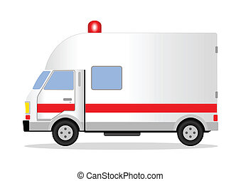 Ambulance - Vector illustration of an ambulance