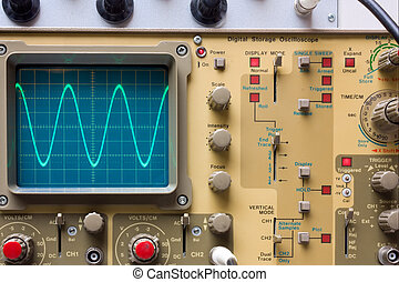 oscilloscope - electronic test - analogue oscilloscope whit...