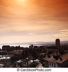 lausanne cityscape close up
