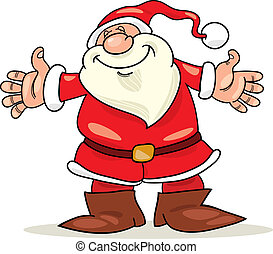 Santa claus - Illustration of cheerful santa claus with open...
