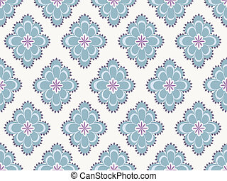 Seamless paisley pattern - Seampless paisley pattern in blue...