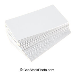 Blank business cards - Stack of blank white business cards