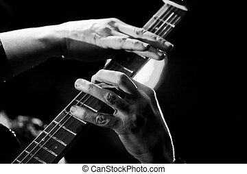 guitar solo - a nice moment of a rock concert, a guitar solo