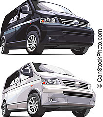 modern european van - detailed vectorial image of modern...