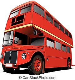 London Bus - Detailed vectorial image of symbol of London -...