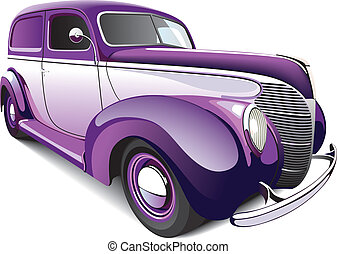 Hot Rod Coupe - vectorial image of two-color hot rod,...