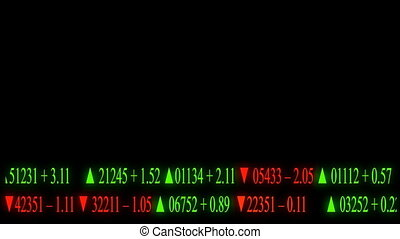 animation of financial ticker tape on screen