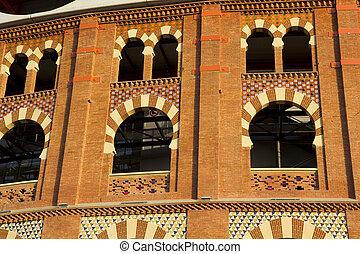 Detail of Bullring Arenas. Barcelona, Catalonia, Spain