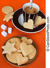 Almond Cookies and black coffee