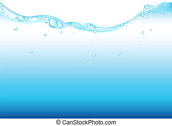 Water Surface, Isolated On White Background, Vector...