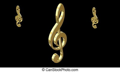 animation of music notes