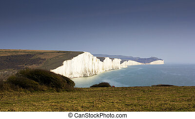 White Cliffes - Image of White cliffes on the english...