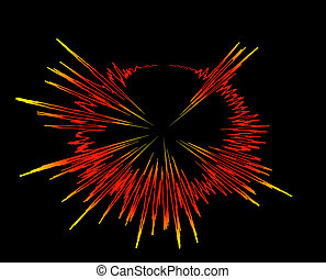 sound waves explosion - sound wave explosion - rays bang...