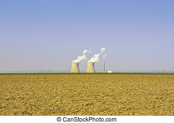 Nuclear Power Plant - View of the nuclear power plant of...