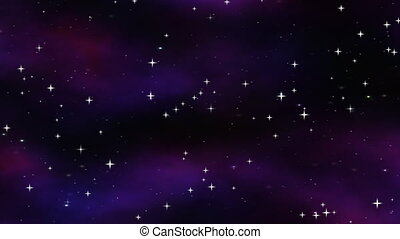 starfield in space