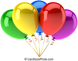 Helium balloons party decoration
