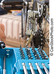 service for bike with adept repairing bike