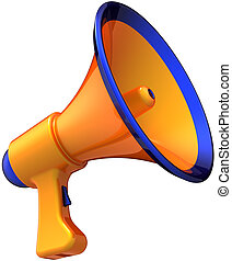 Megaphone news colored orange