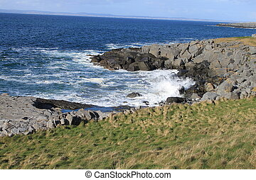 West coast - A seascape in County Clare on the west coast of...