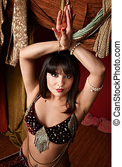 Beautiful Belly Dancer - Beautiful young Arab woman belly...