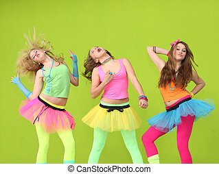 adolescentes, bailando, cumpleaños, fiesta