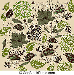 Vector Illustration: flower background. Fragment