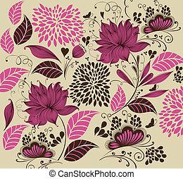 Vector Illustration: flower background. Fragment