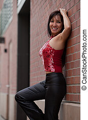 Attractive forties asian woman