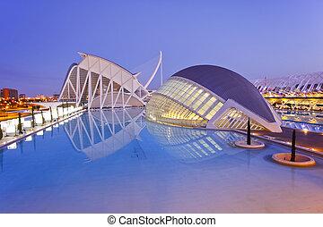 Valencia's City of Arts and Science Museum (Ciudad de las...
