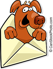Dog in envelope