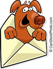 Dog in envelope
