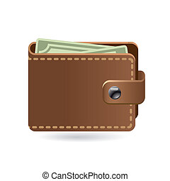 wallet - leather wallet icon