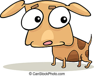 cute doggy - cartoon illustration of cute little doggy