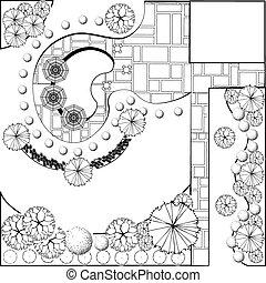 Landscape  Plan  - Plan of Landscape and Garden