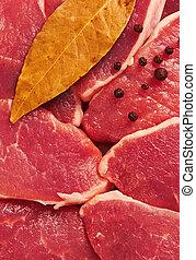 Piece of raw fresh meat