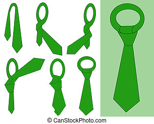Tie and knot instructions, vector illustration