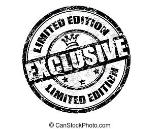 Exclusive - limited edition stamp - Grunge rubber stamp with...