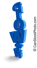 Growth stack in blue over white background