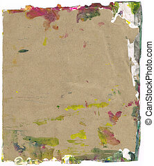 Beautiful yellow, green and magenta paint splatters on...