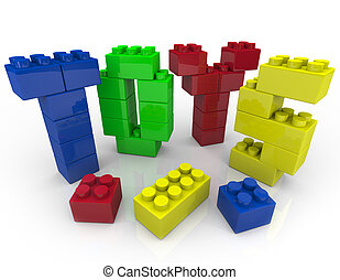 Toys - Building Blocks for Creative Playing - Several...