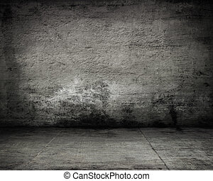 empty dark old wall