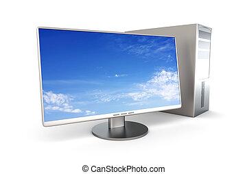 Desktop PC System - A Desktop PC System. 3D rendered...