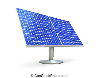 Solar Panel - 3D rendered Illustration. A single solar...