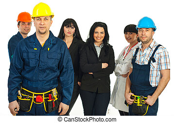 Constructor worker and different people jobs - Constructor...