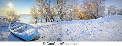 winter on danube