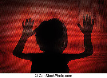 conceptual silhouette of a child