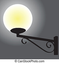Wall street lamp yellow
