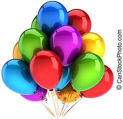 Party balloons colorful decoration