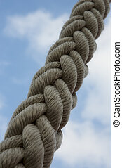 rope against blue sky